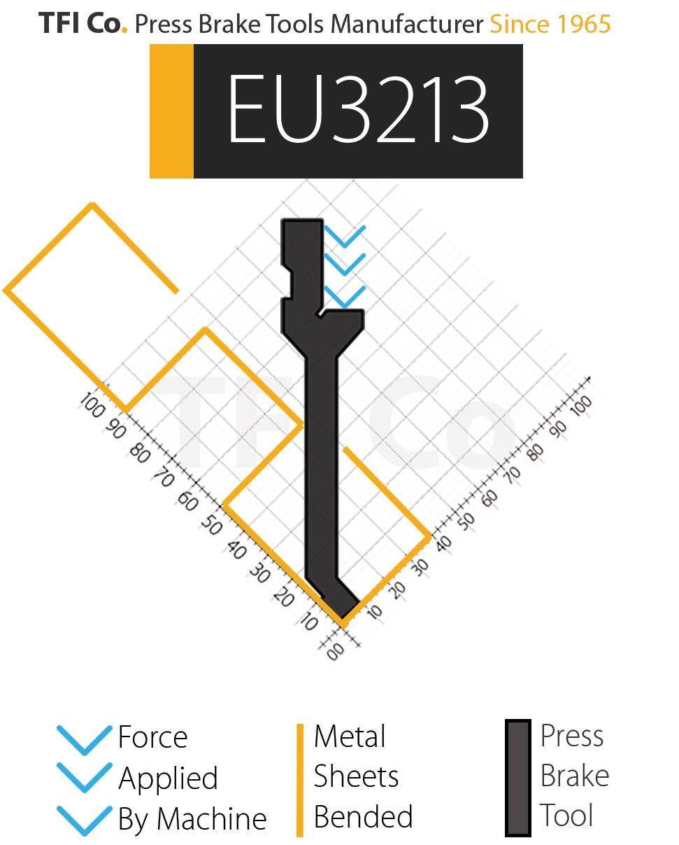 EU3213 , press brake tools, european design , amada , tfico, machine, press brake tools, tooling, press, brake, bending , upper, steel, tokoyo, california, uae, usa, industrial , manufacturer,
