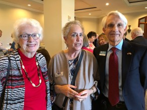 Past Presidents Joan Curley and Rhona with Jack Wert