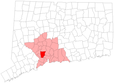 Location of Woodbridge in New Haven County, Connecticut