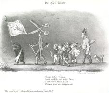 Die gute Presse, Lithographie von unbekannter Hand, 1847