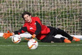 Marwin Hitz (Torwart FC Augsburg #35), Parade, FC Augsburg, Trainingslager, Estepona, Saison 2015-2016, 13.01.2016