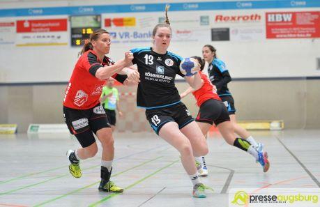 170408_TSVH_THI_001 Ein großer Wurf | TSV Haunstetten Handball sichert sich wichtige Punkte im Abstiegskampf Augsburg Stadt Handball News News Sport FSG Mainz 05/Budenheim TSV Haunstetten Handball |Presse Augsburg
