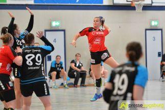 170408_TSVH_THI_026 Ein großer Wurf | TSV Haunstetten Handball sichert sich wichtige Punkte im Abstiegskampf Augsburg Stadt Handball News News Sport FSG Mainz 05/Budenheim TSV Haunstetten Handball |Presse Augsburg