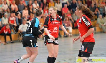 170408_TSVH_THI_027 Ein großer Wurf | TSV Haunstetten Handball sichert sich wichtige Punkte im Abstiegskampf Augsburg Stadt Handball News News Sport FSG Mainz 05/Budenheim TSV Haunstetten Handball |Presse Augsburg