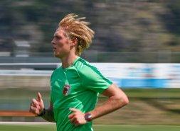 Fredrik Jensen (FC Augsburg #24), Lauftraining, FC Augsburg, Trainingslager Längenfeld, Tirol, Saison 2018-2019, 02.08.2018