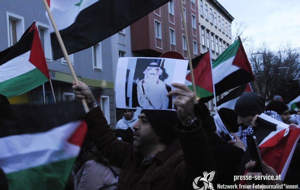 Kundgebung von BDS vor der US-Botschaft (16.12.2017)