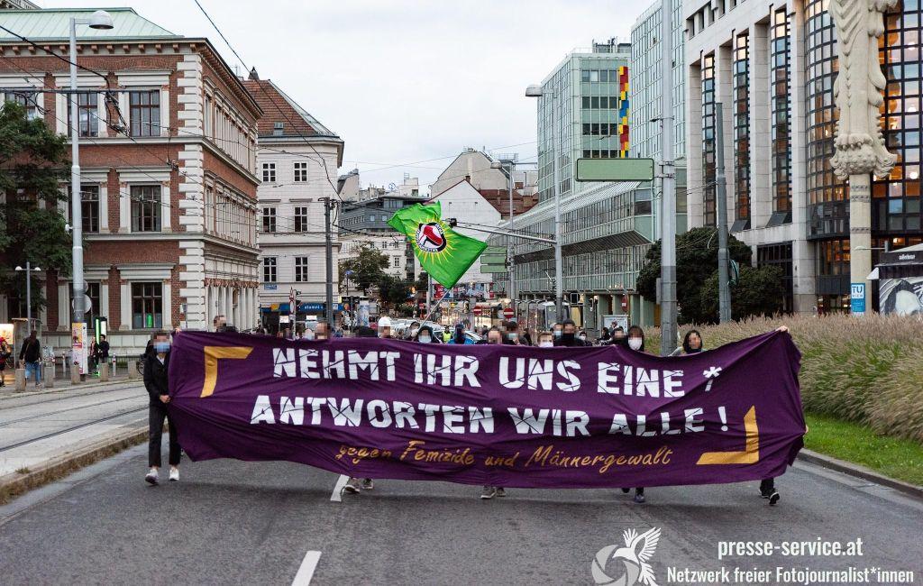 Wien: Demonstration gegen Femizide und Männergewalt (23.09.2020)