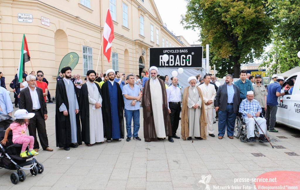 """Wien: Demonstration zum """"Al Quds Tag"""" (09. 06.2018)"""