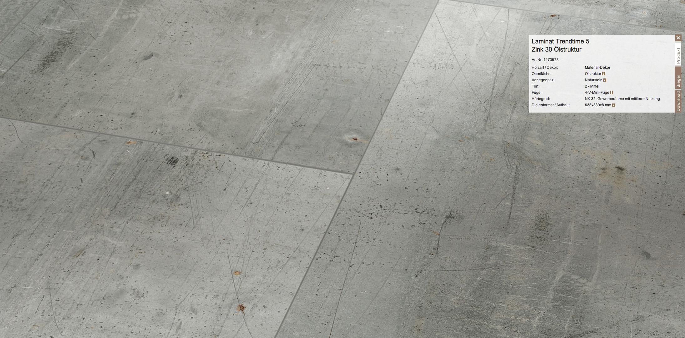 Blickfang Pvc Boden Steinoptik Dekoration Von Parador-laminatboden-kueche-naturstein-dekor