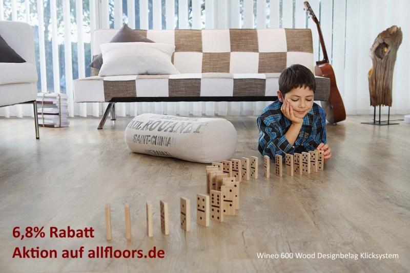 Wineo 600 Wood Vinyl-Designbelag Preis Rabatt-Aktion