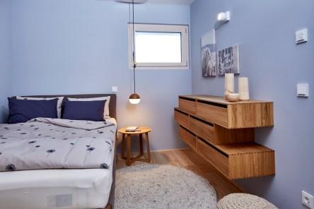 Grüne Erde-Wohnung Schlafzimmer