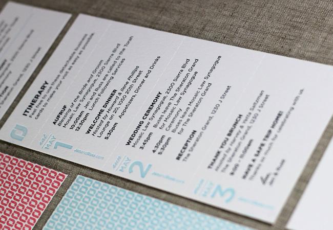 Press Engaged Letterpress  Design  Wedding Invitation Suite