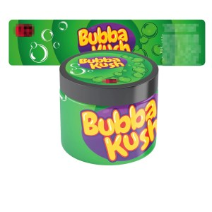Bubba Kush Type 2 Jar Labels
