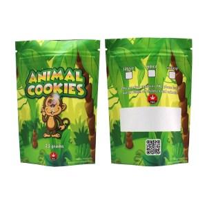 Animal Cookies Printed Mylar Bags
