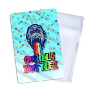 Gorilla Zkittlez T3 Mylar Bag Labels
