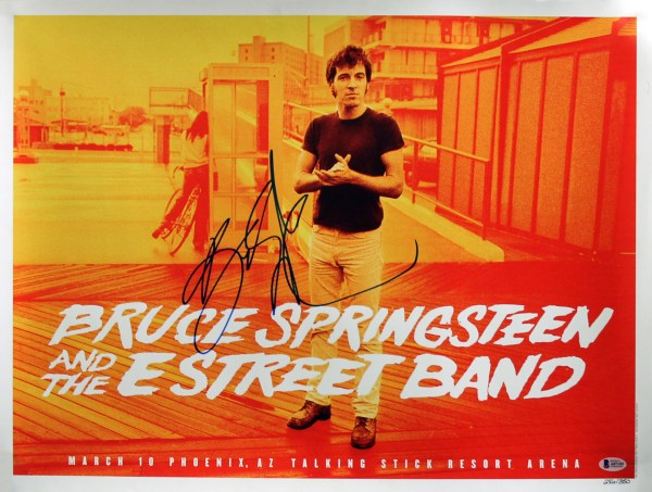 Bruce Springsteen Authentic Signed 18x24 Concert Poster Le
