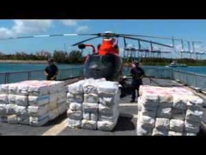 Bundles of cocaine seized by coast guard worth estimated 50 million