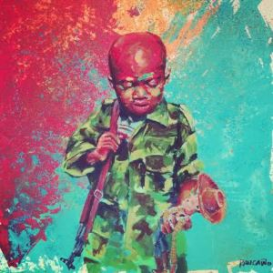 """Carlos Rancano, exhibits """"Toy Soldier"""" at RAW Miami artists May event in Wynwood."""