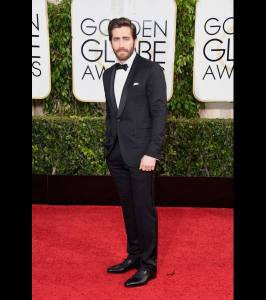 Jake Gyllenhaal's outfit at the 2015 Golden Globes was on point.