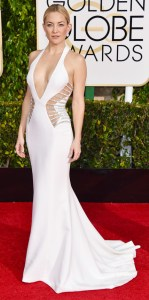 Kate Hudson looked amazing in White at the Golden Globes.
