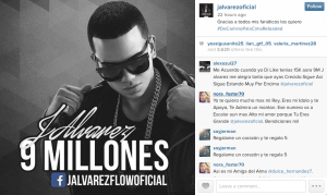 J Alvarez, the Reggaeton star, is on his way to the top with almost 10 million likes on Facebook.