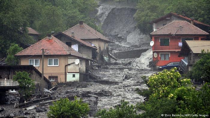 The destruction the Balkan Floods have caused leaving thousands homeless or stranded
