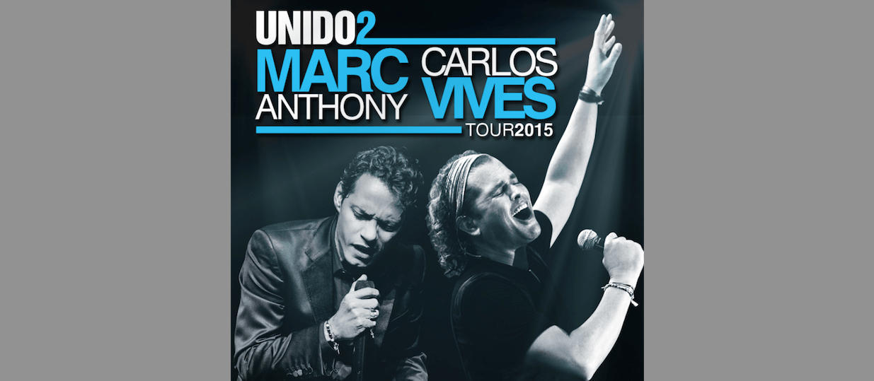 Carlos Vives and Marc Anthony will share the stage as part of the UNIDO2 Tour.