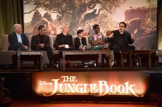 "The cast of ""The Jungle Book"" holds a press conference in Los Angeles."