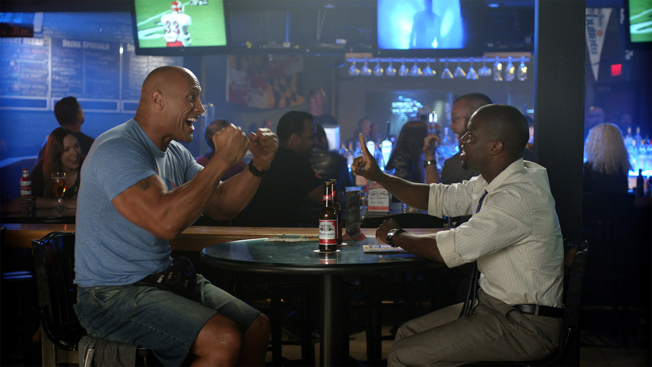 """Dwayne """"The Rock"""" Johnson and Kevin Hart star in Central Intelligence."""