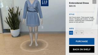 試着するARアプリ「DressingRoom」2017年1月末にリリース – GAPとgoogleとAvametricが共同開発/ DressingRoom by Gap