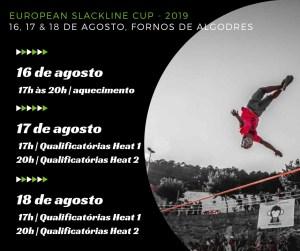 programa do campeonato europeu de slackline