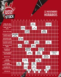 cartaz super bock em stock horarios dia 22