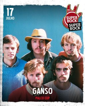 ganso no cartaz super bock super rock 2021
