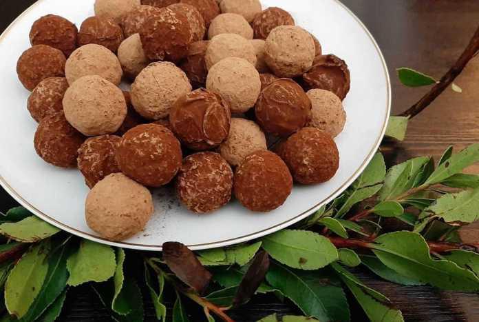 trufas de chocolate de medronho