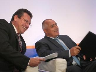 Заместник-председателят на ЕК Марош Шефчович и премиерът Бойко Борисов демонстрираха добро настроение на енергийния форум в София, но проблемите пред реализацията на газовите проекти остават нерешени.