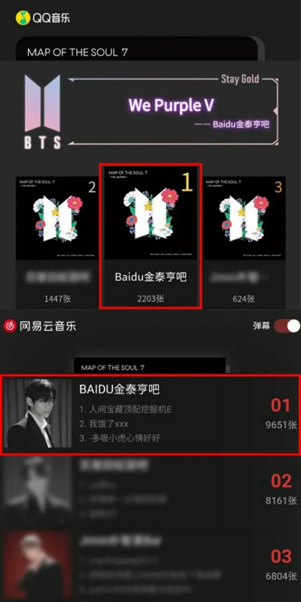 BTS V Fanclub No. 1 in Music Purchases for STAY Gold - Super Special Support