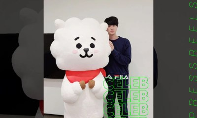 BTS Jin, upload photos with a large RJ doll