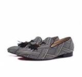 1597576 thum 1 - 超人気 2017 Christian Louboutin クリスチャンルブタン コピー Dandelion Tassel Flat カジュアルシューズ フラットシューズ メンズ 靴