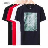 1613733 thum 1 - 個性をプラスARMANIアルマーニコピープリントメンズクルーネック半袖Tシャツ品質保証最新作