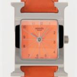 1615808 thum 1 - 最上品なエルメス Hウォッチ 個性派ファション単品 レザー オレンジ 女性時計