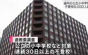 1023 03 1 - 北海道内の公立小中学校 不登校6000人超へ