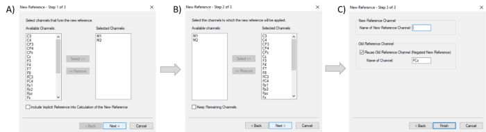 Figure 2: The dialogs of the New Reference transformation in Analyzer 2.