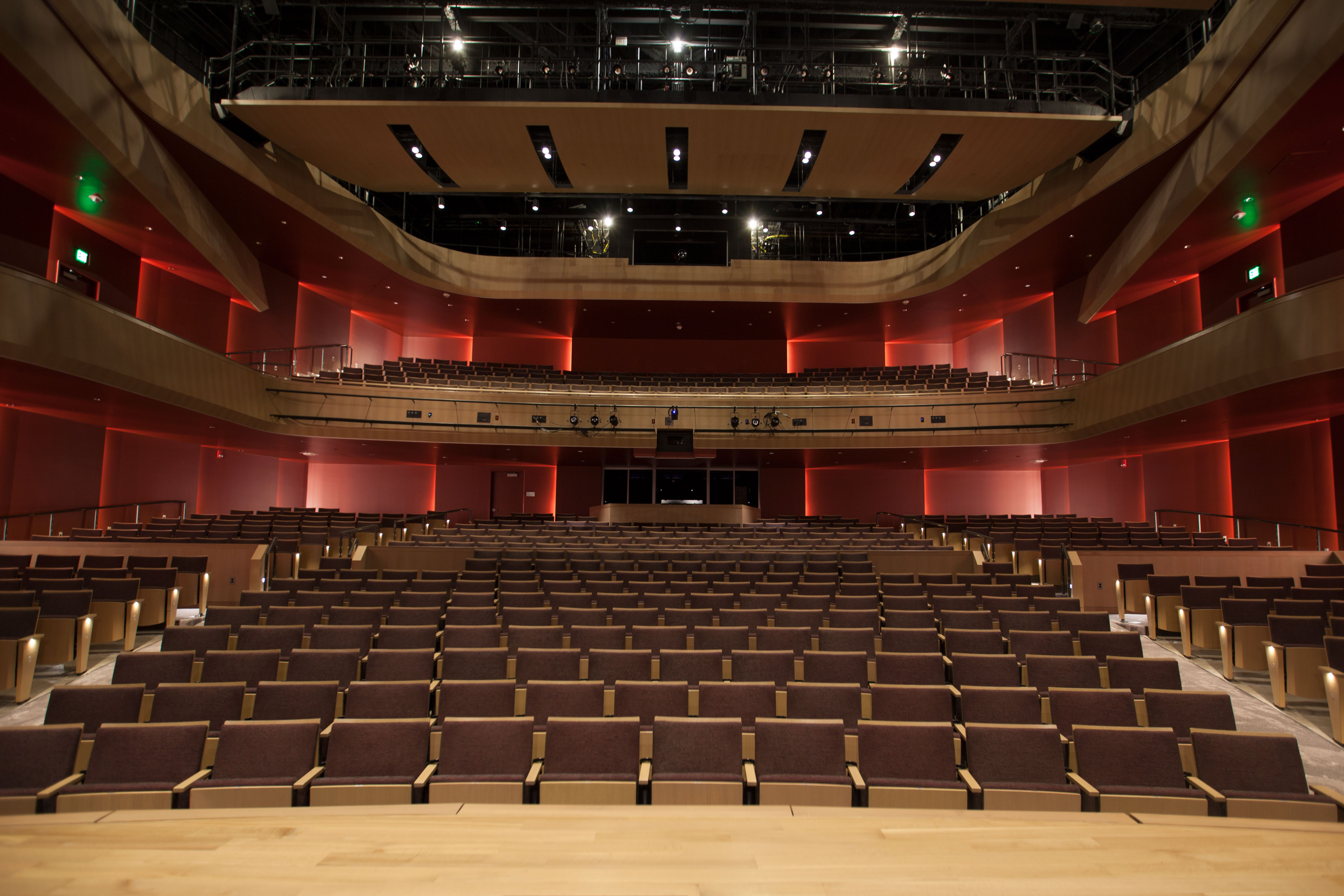 Interior of the Shockley-Zalabak Theater at the Ent Center for the Arts