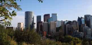 city skyline building office