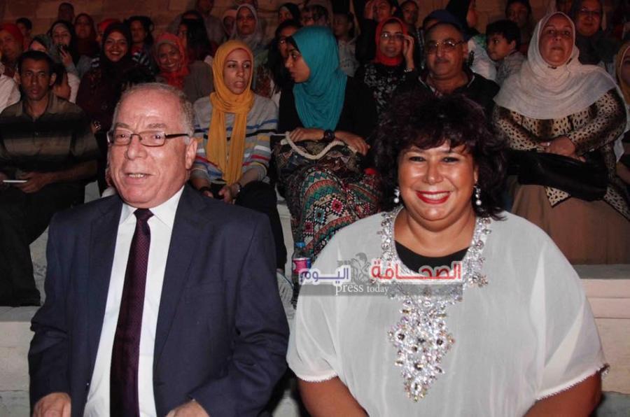 وزير الثقافة حلمي النمنم ورئيسة الاوبرا الدكتورة ايناس عبد الدايم