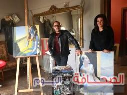 الفنانة هبة حسين والفنان محمد طلعت