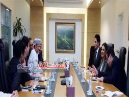 لقاء وزيرة الاستثمار مع رئيس الصندوق الاحتياطي العُماني