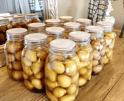 canning potatoes