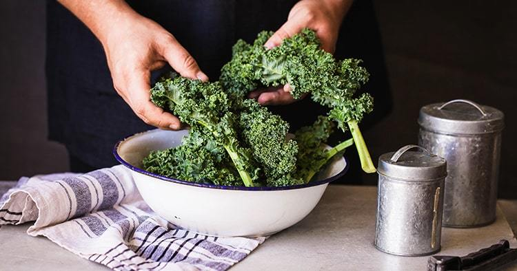 kale leafy greens vegetable box