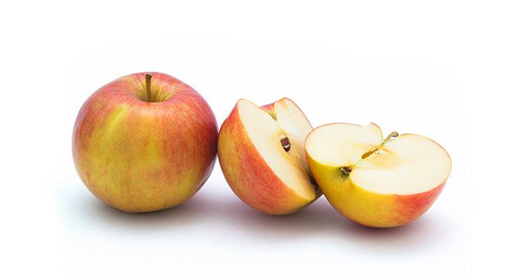 Apples. Studio with white background.